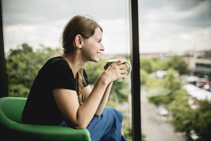 Kaffee trinken Fürth Dachterrasse