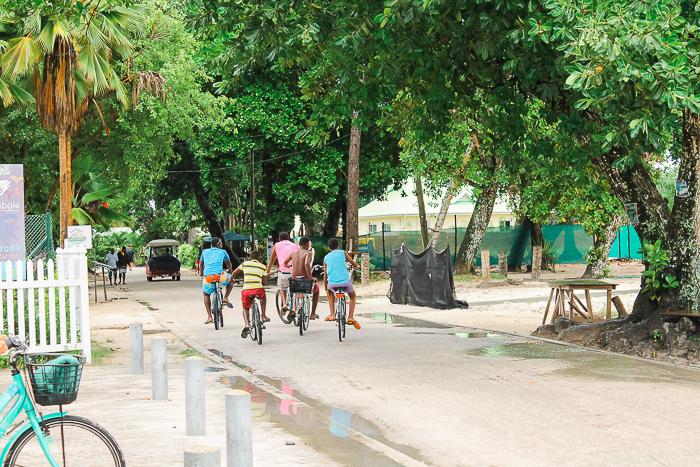 Fahrräder auf den Seychellen