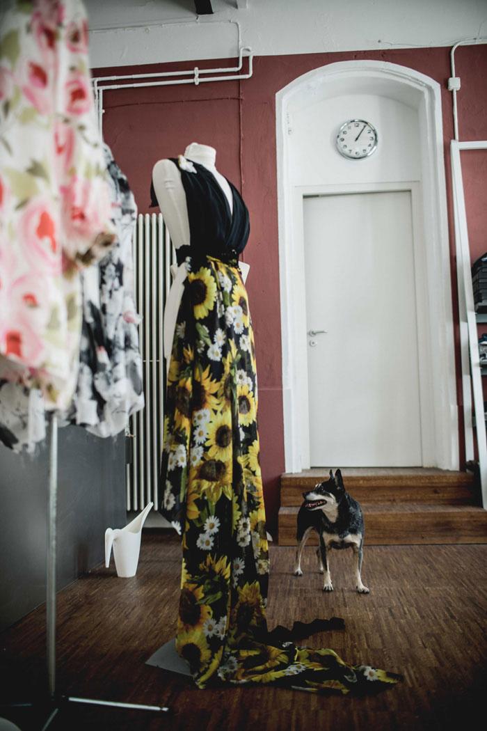 maßgeschneidertes Kleid