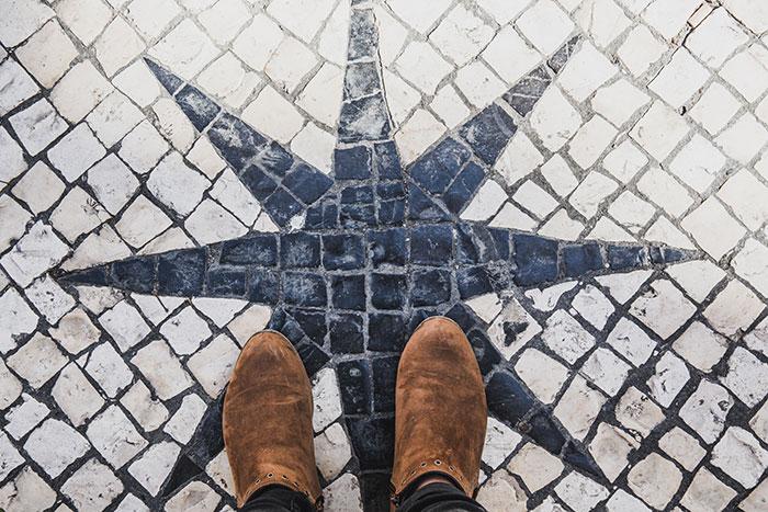 Pflastersteine in Lissabon
