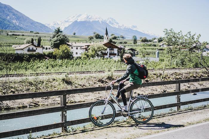 Radfahrer auf der Via Claudia Augusta