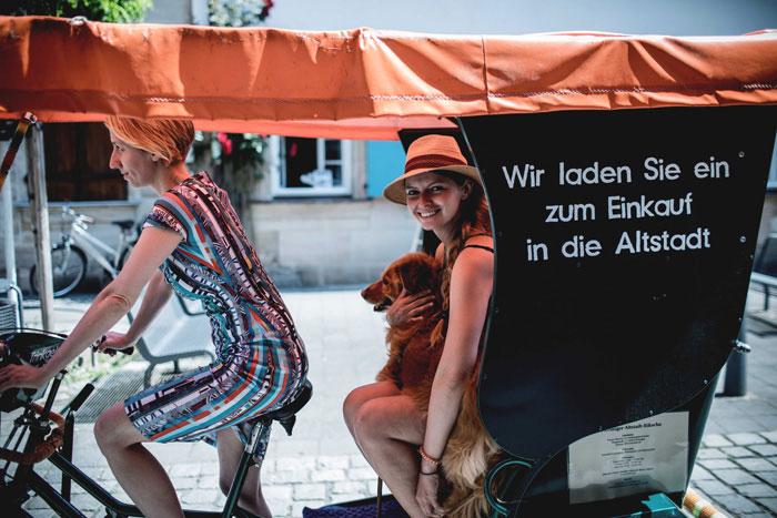 Rikscha fahren in Erlangen
