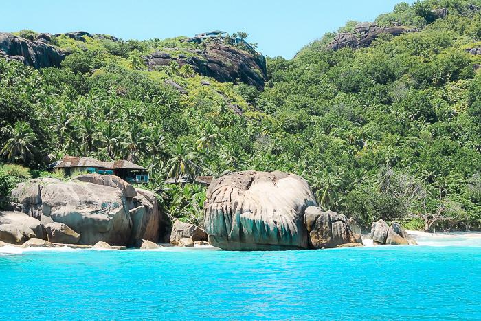 Granitfelsen auf den Seychellen
