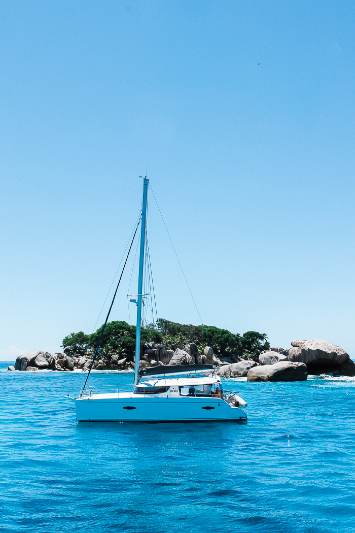 Segelschiff auf den Seychellen