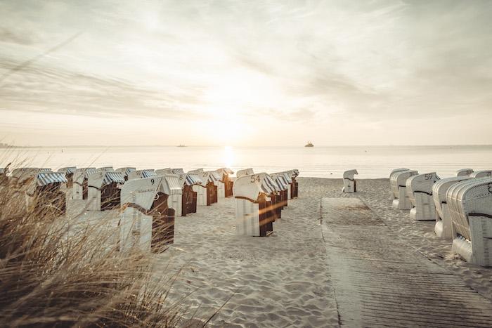Urlaub an der Ostsee Strandkorb schlafen