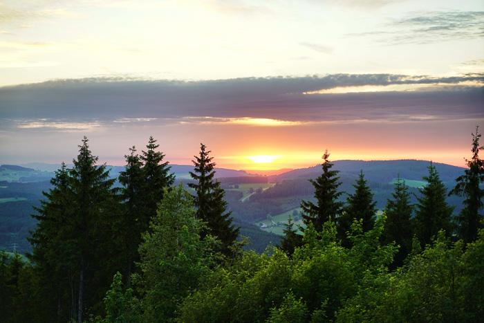 Sonnenuntergang Hochfrist