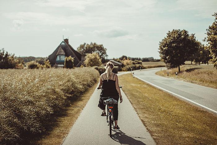 Tolle Radfahrwege in Hohwacht