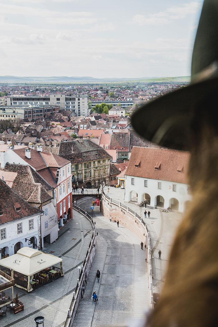 Aussicht auf Sibiu