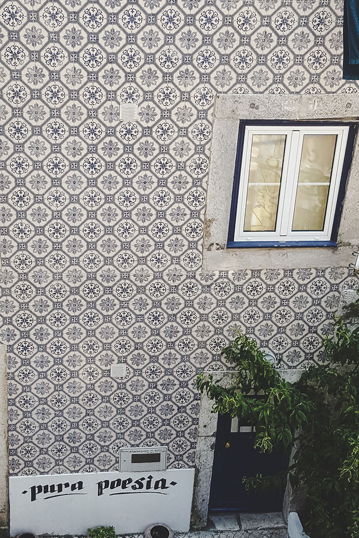 Blaue Kacheln Lissabon