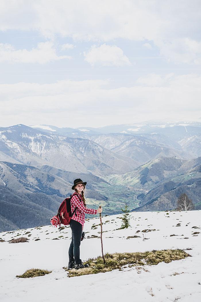 Christine Neder auf der Maguraspitze