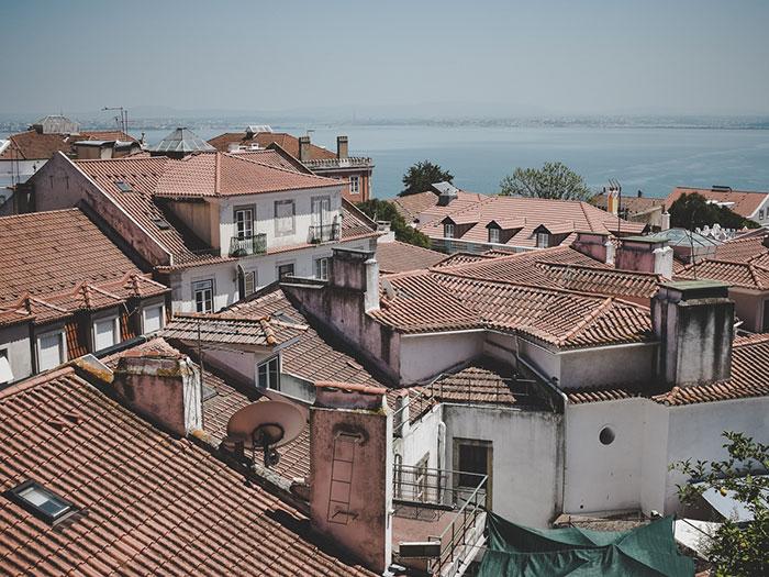 Dächer Lissabon