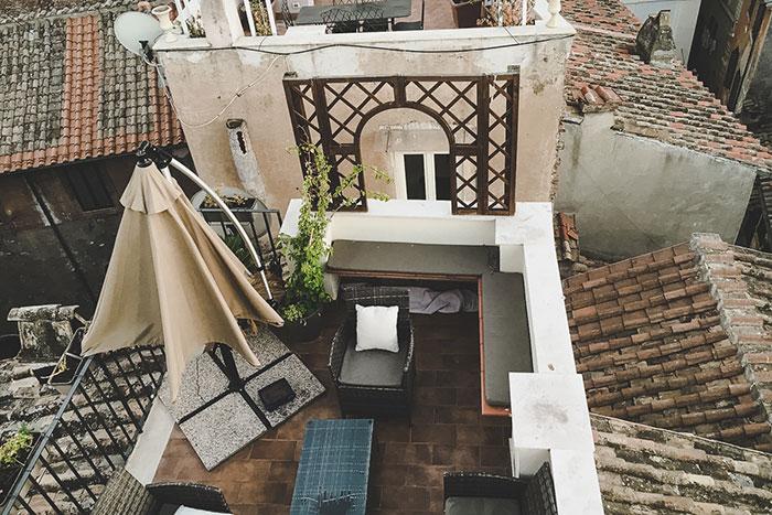 Dachterrasse HOtel Rom