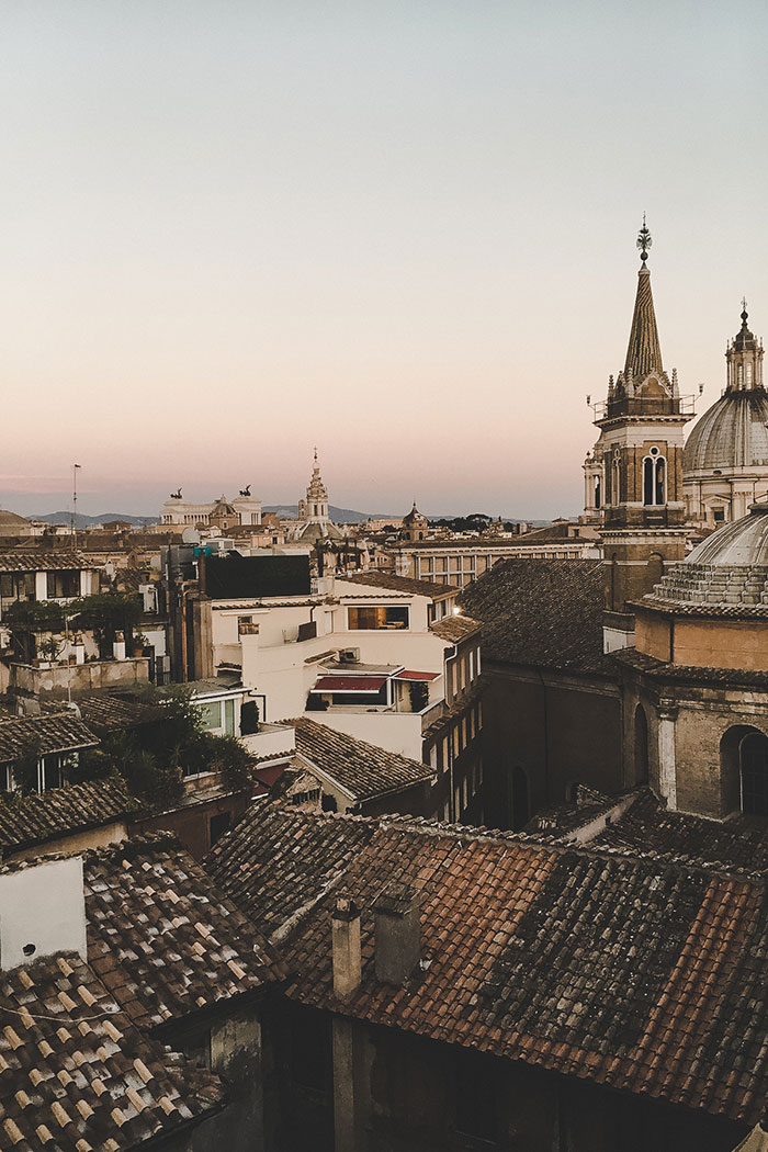 Dachterrasse Rom Sunset