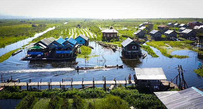 Drone Longtailboot Myanmar