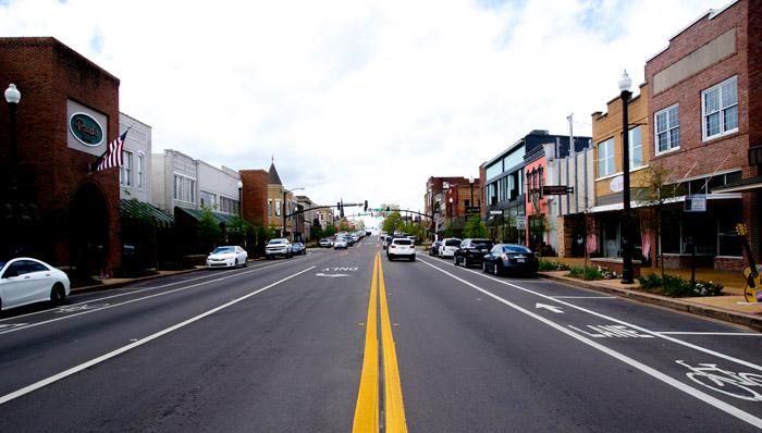 Straße in Tupelo