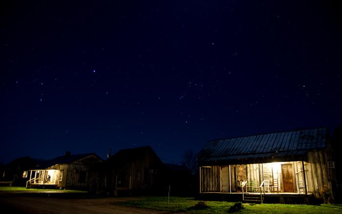 Sternenhimmel über den Tallahatchie Flats in Greenwood