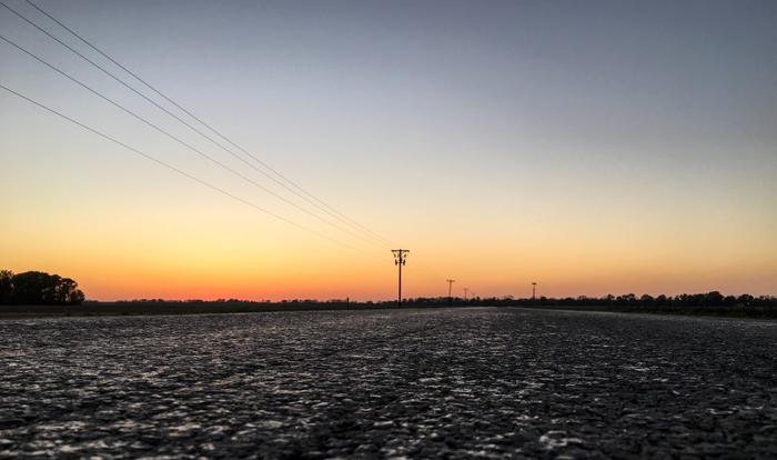 Roadtrip durch Mississippi Sonnenuntergang