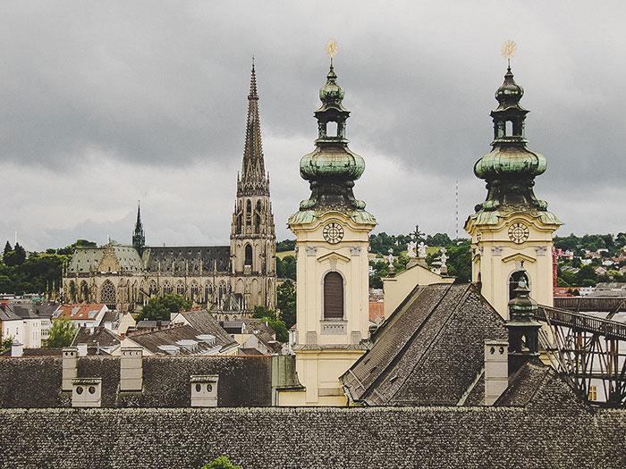 Linz bei Regen