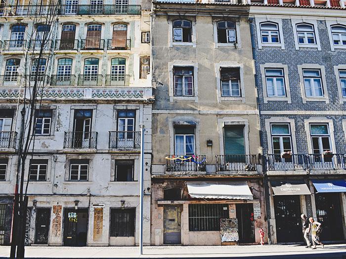 Lissabon Häuserfronten