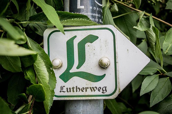 Schild Lutherweg