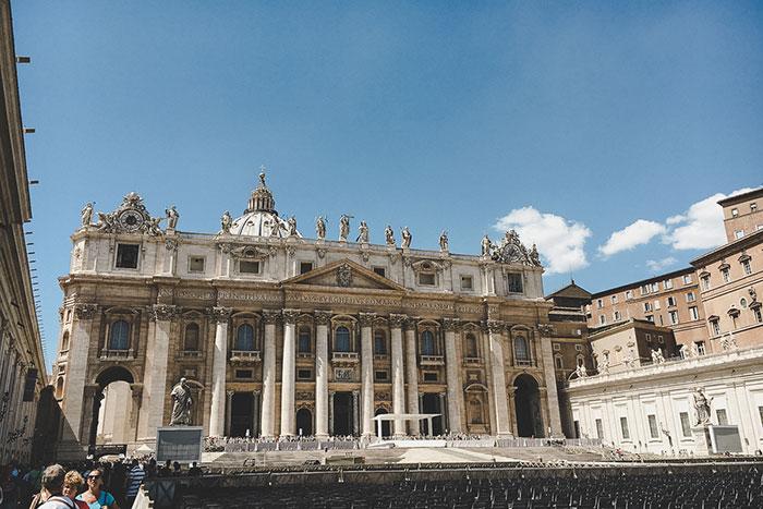 Vatikan Säulen Rom