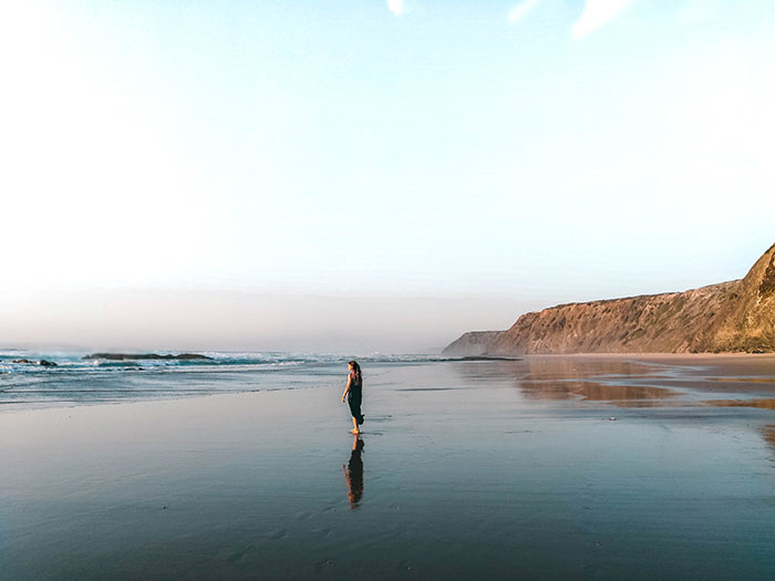 Abendsonne Strand Frau