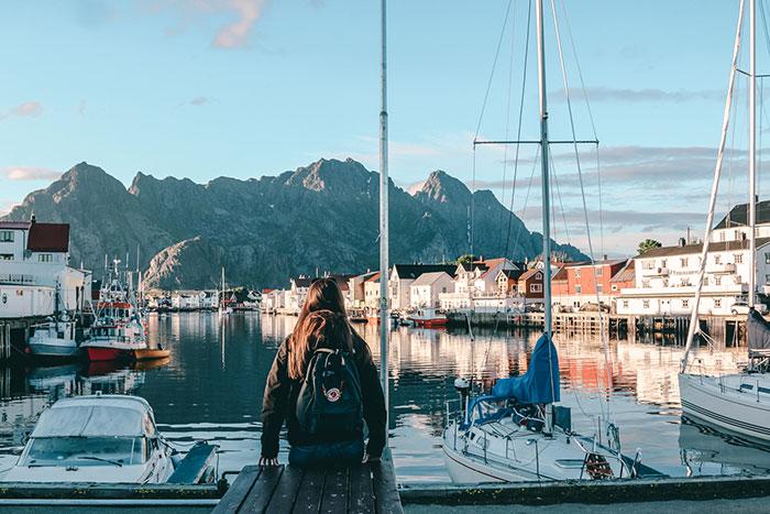 am Hafen von Henningsvear