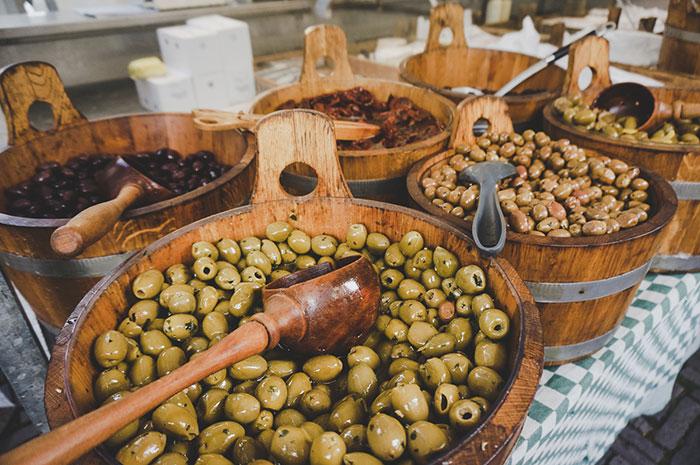 Amsterdam Marktbesuch Oliven