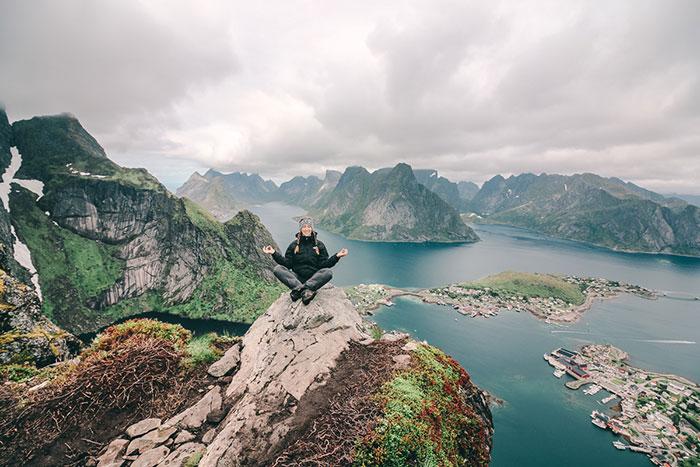 Berg Reinebringen Norwegen