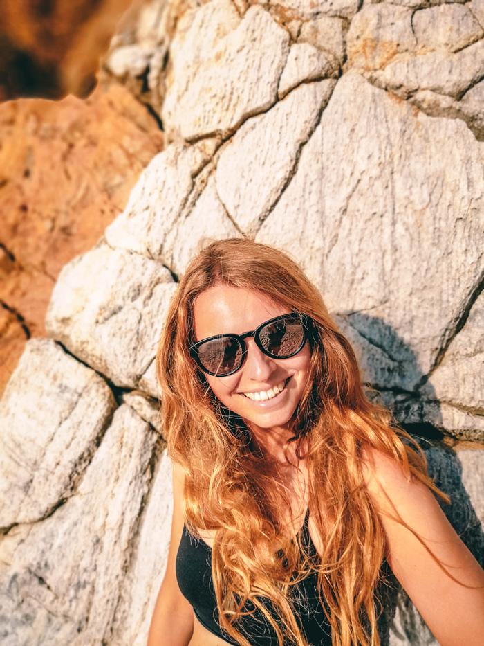 Christine Neder am Strand