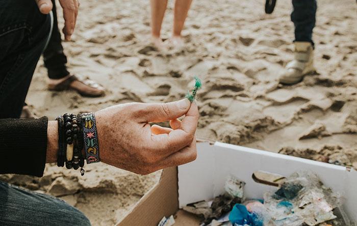 Fischnetz Müll