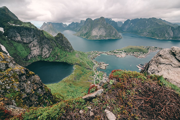 Fjordlandschaft Norwegen Lofoten