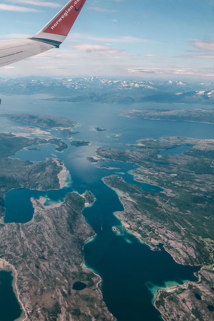 Flugzeug Norwegen Lofoten