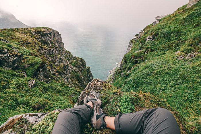 Kurzer Stop auf dem Weg zum Berg Ryten