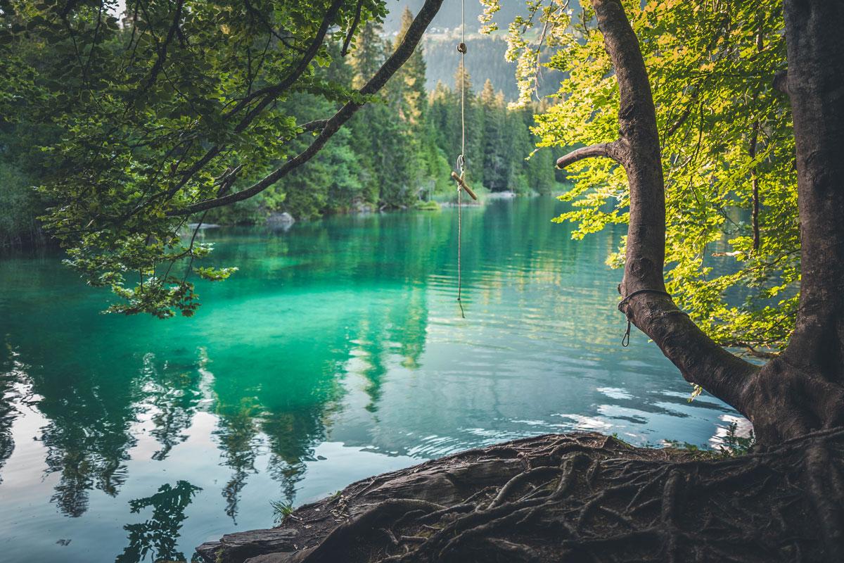 Seilschschaukel am Crestasee