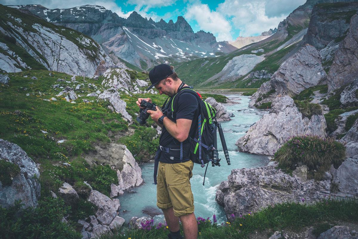 Marc am Wasserwanderweg
