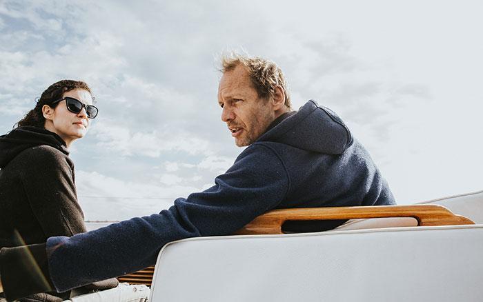 Mia Fabian auf dem Boot