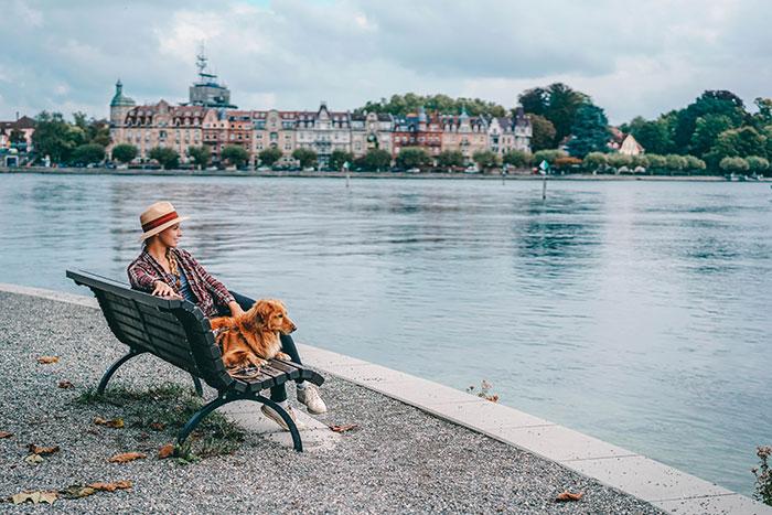 Mit Hund in Konstanz