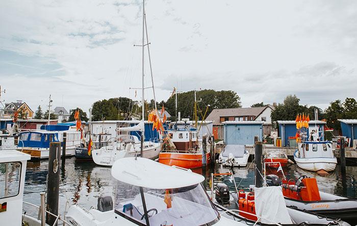 Niendorfer Hafen Boote