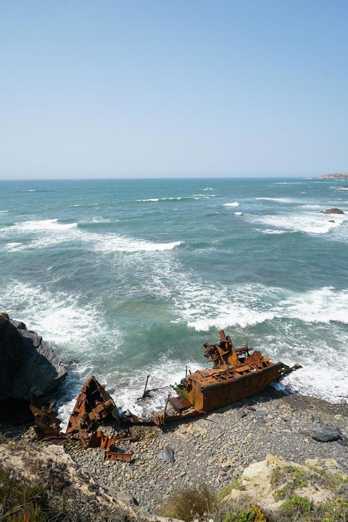 Schiffswrack Portugal