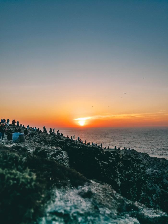 Sonnenuntergang bei Sagres