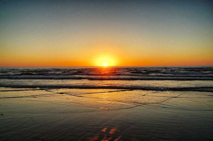 Sonnenuntergang Praia de Monte Clerico