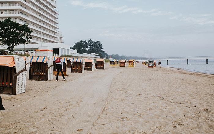 Strand morgens