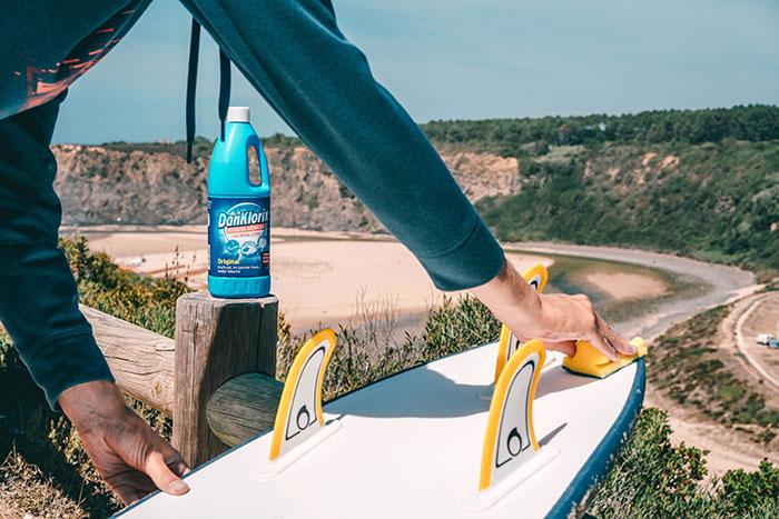 Surfboard reinigen