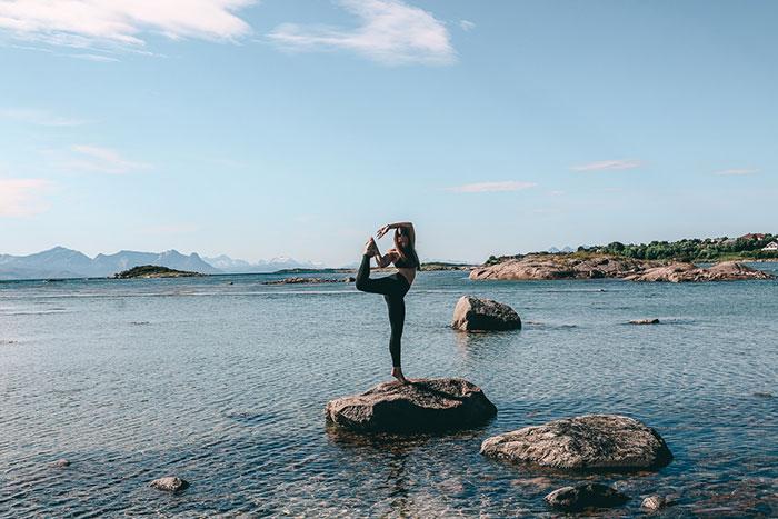 Yoga Norwegen Lofoten