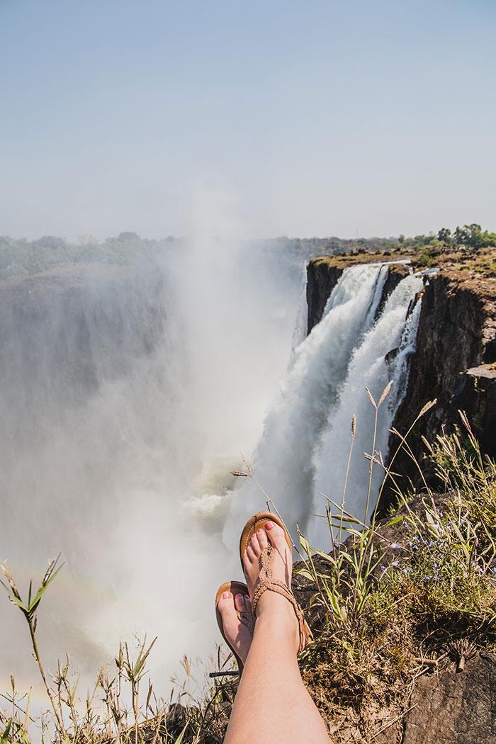 Ausblick Viktoriafälle Sambia