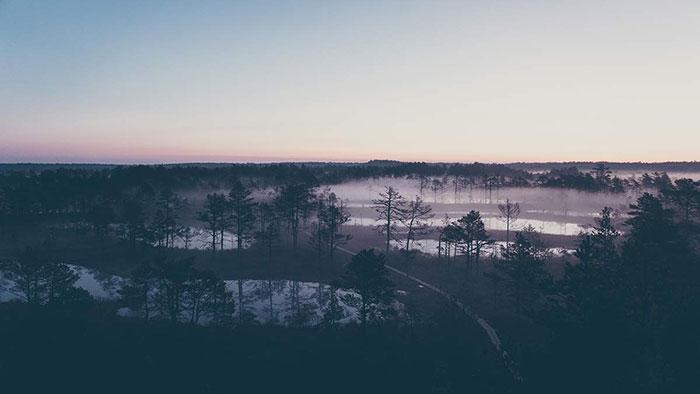 Aussicht Viru Sonnenaufgang