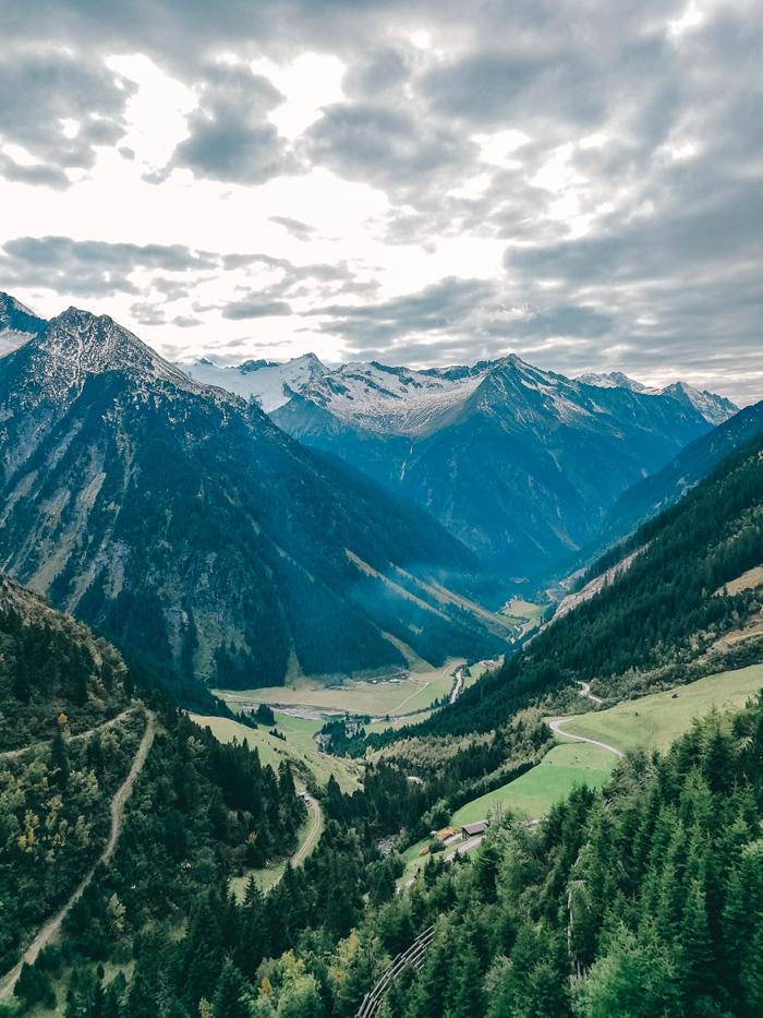 Berge im Zillergrund