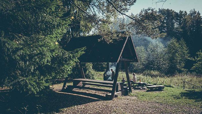 Campingplatz Überdachung