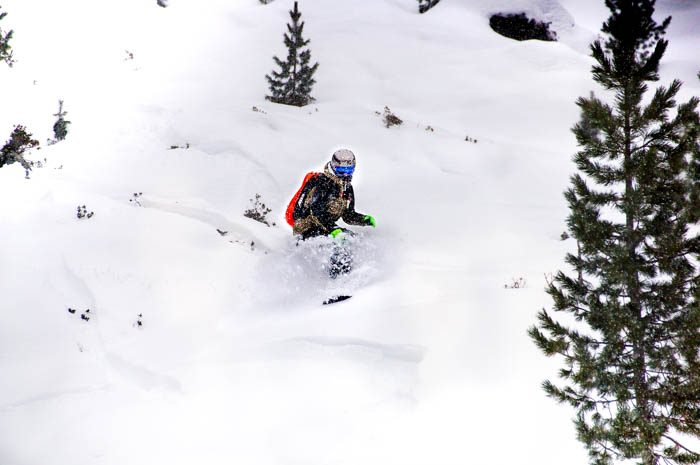 Innsbruck im Winter Freeriden Kühtai mit Flor Orley